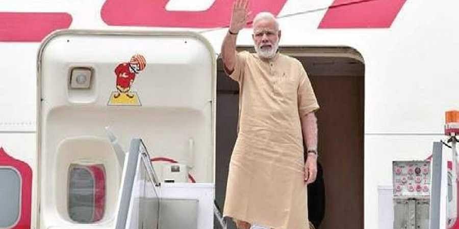 PM Narendra Modi on Air India One.