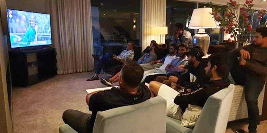 Ravi Shastri, team India glued to TV in support of U-19 boys