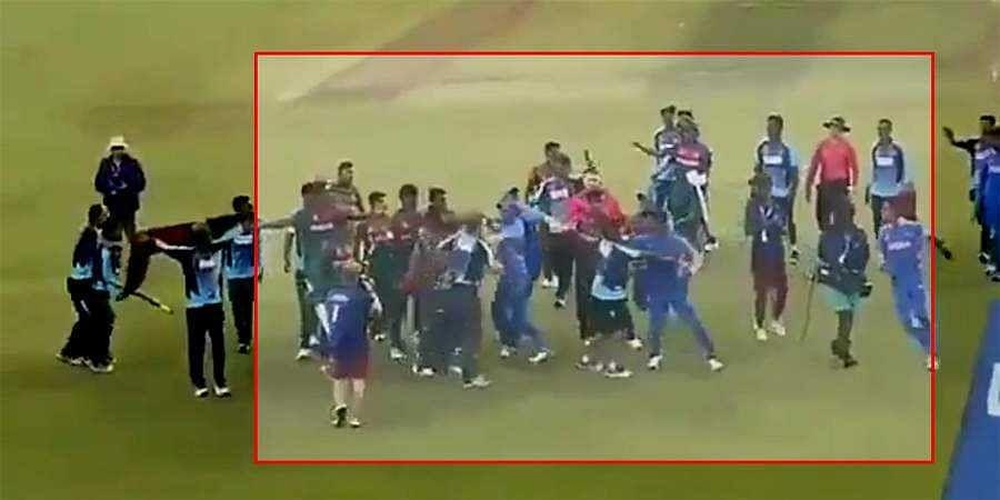 brawl after Under-19 World Cup final
