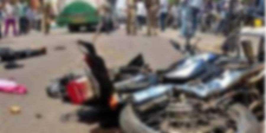 Bus-Bike Accident kills three in Shivamogga