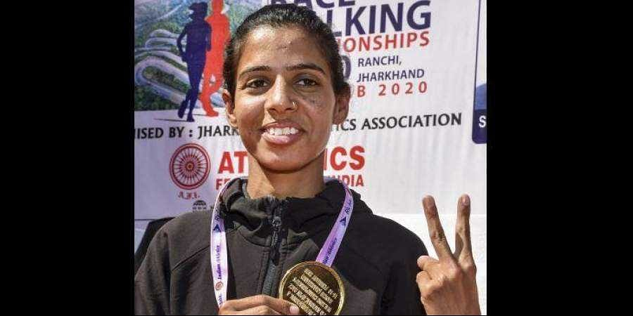 Rajasthan's Bhwana Jat sets new national record in race walking, qualifies for Tokyo Olympics