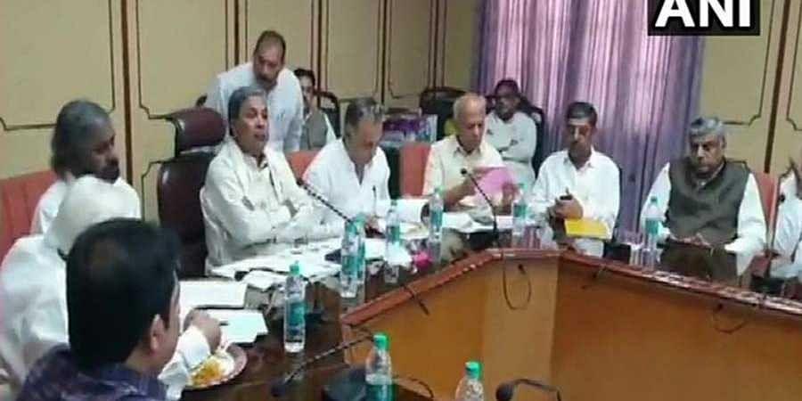 Siddaramaiah holds legislative party meet at Vidhana Soudha