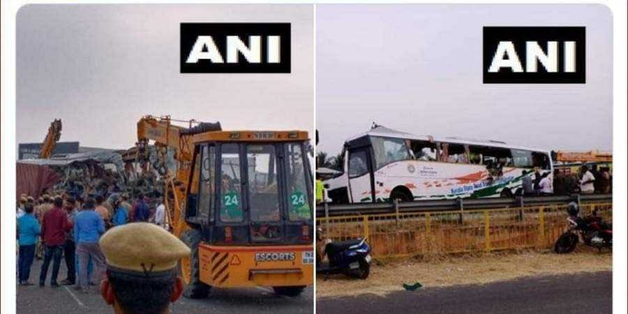20 dead after Ernakulam-bound KSRTC bus collides with truck in Tamil Nadu