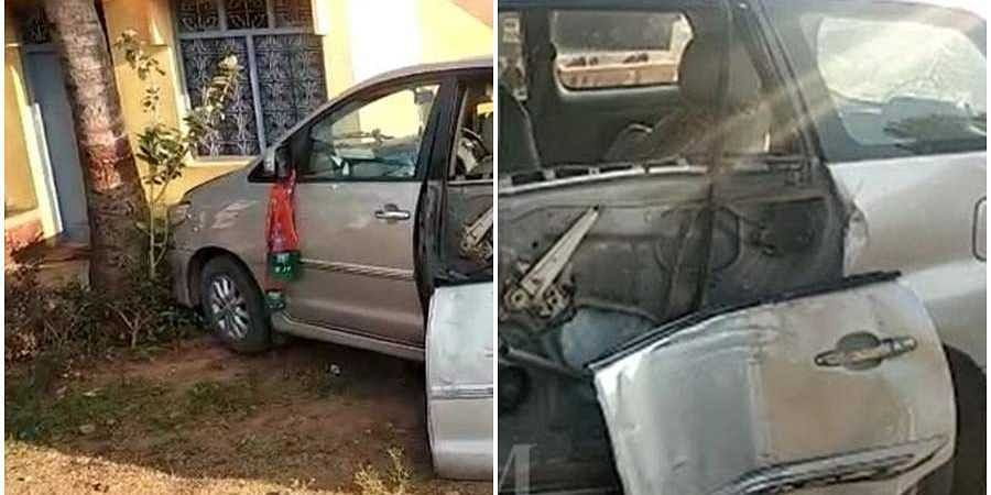 MLA SA Ravindranath Grand son car Accident