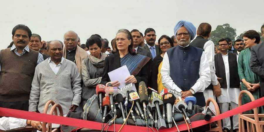 Sonia -led Congress delegation meets President Kovind over Delhi riots