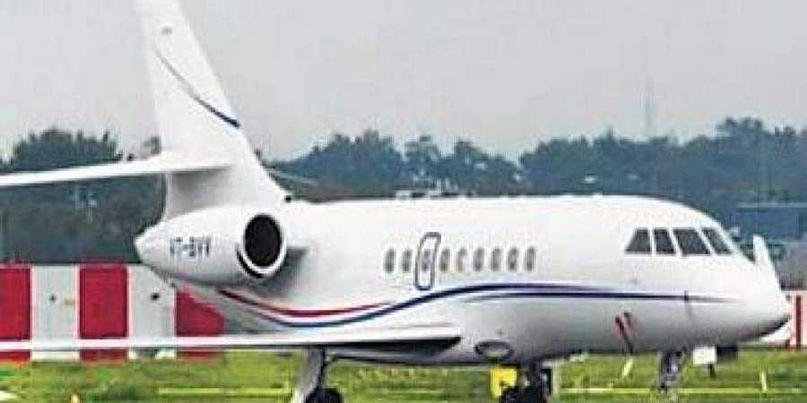 The flight which carried 17 MP Cong MLAs to Bengaluru