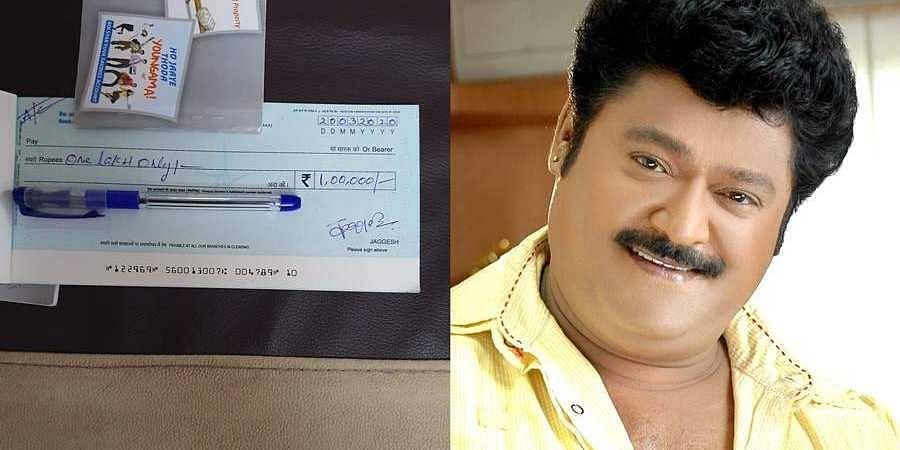 Sandalwood actor jaggesh donates Rs. 1 Lakh to nirbhaya convicts hangman