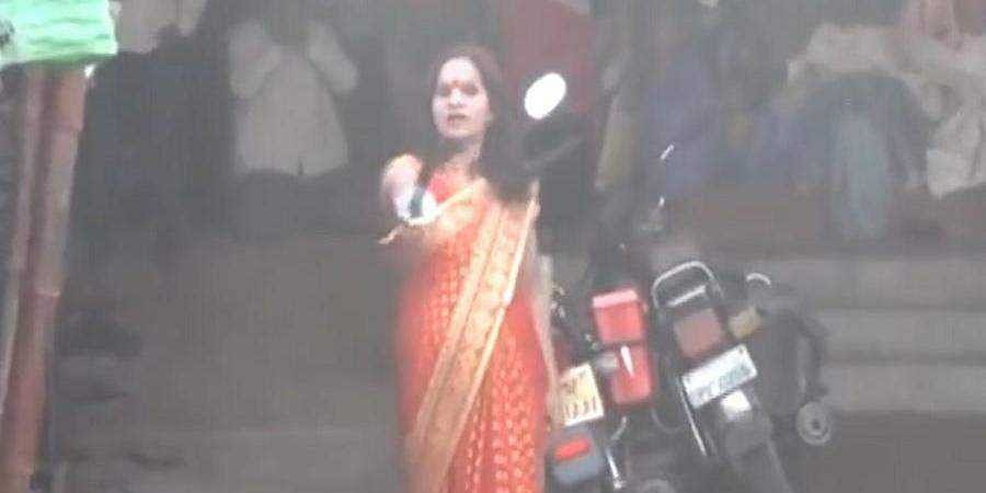 Self-styled godwoman defies lockdown in UP, points sword at police