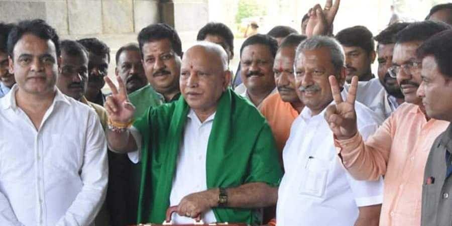 State Budget 2020-2021: CM Yeddyurappa Arrives to Vidhana soudha