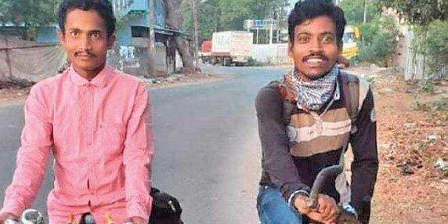 Youths run out of luck after cycling 1,000 km