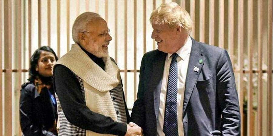PM Modi-British PM Johnson