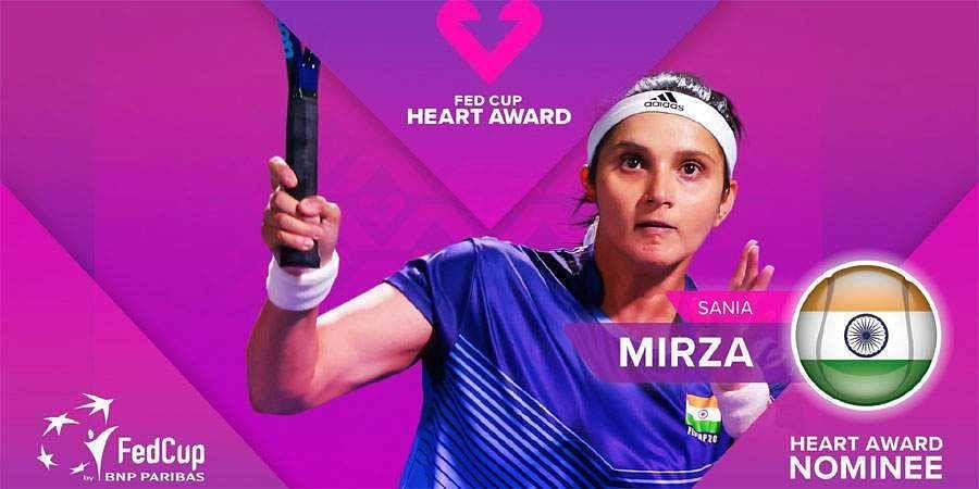 Sania Mirza-Fed Cup Heart award