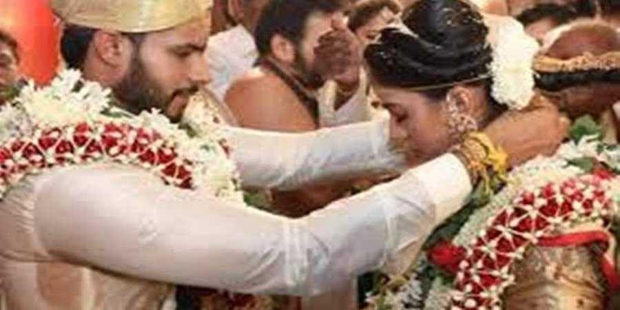 Nikhl and revathi wedding