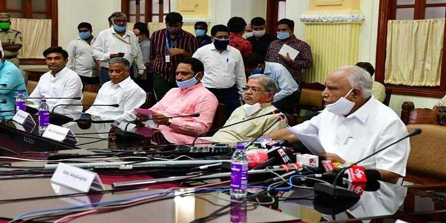 CM Yedyurappa in press meet