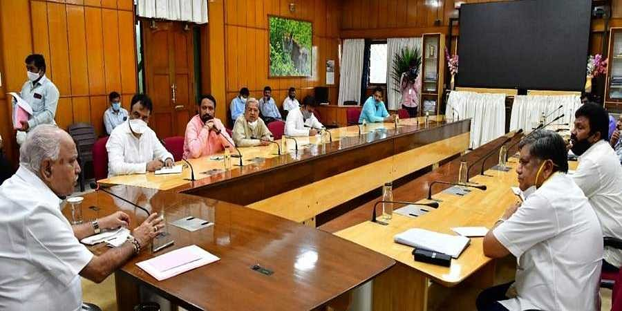 CM Yedyurappa held meeting with ministers
