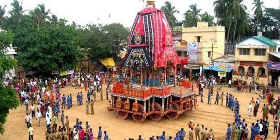A representational picture of the Rath Yatra at Puri.
