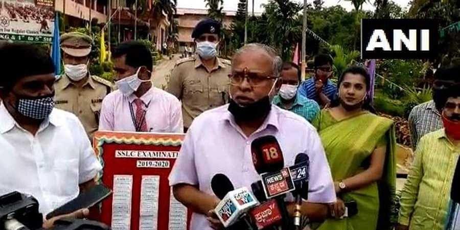 Minister Suresh Kumar speaks to the media