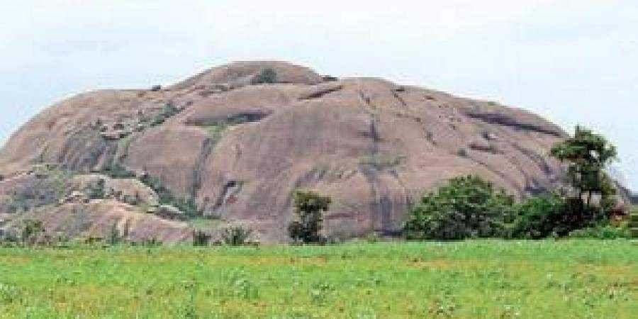 One of the hillocks of Ramanagara