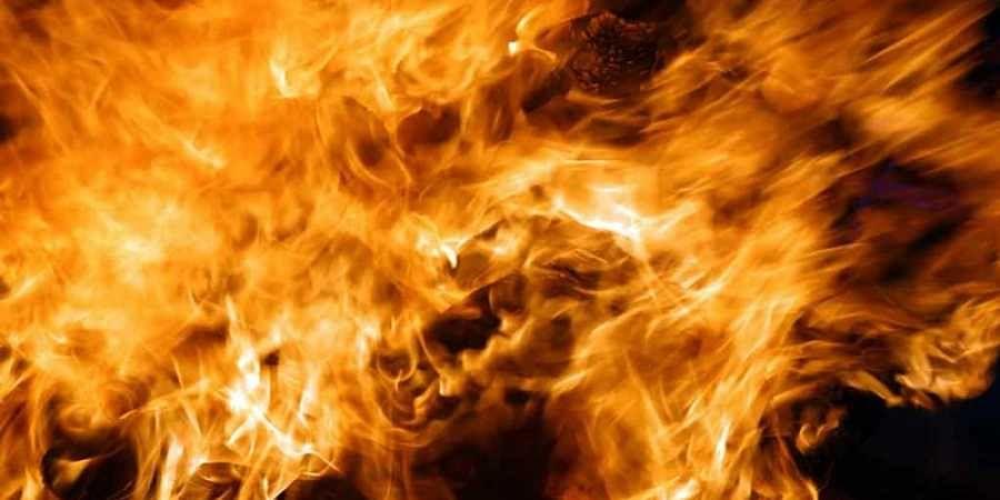 Bride sets her husband on fire