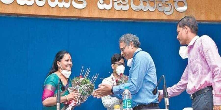 Newly elected Zilla Panchayat president Sujata Kallimani