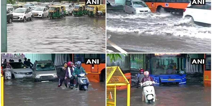 Heavy rain in Delhi