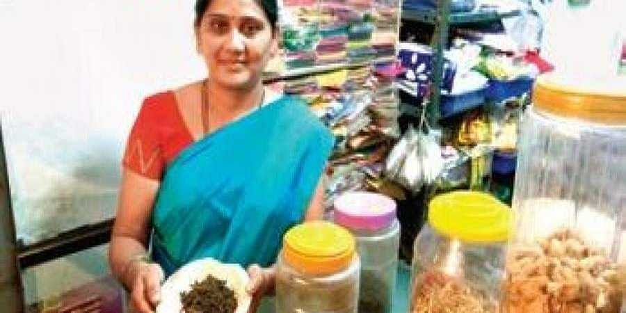 A shopkeeper with a spices