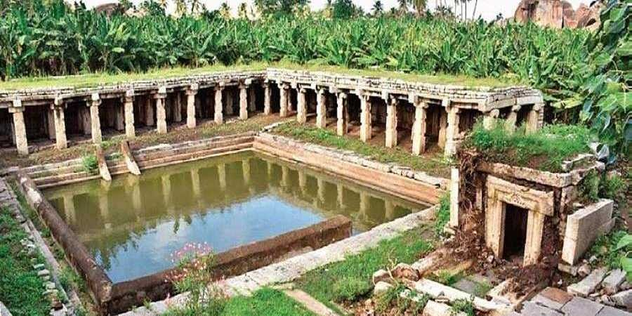 In 2019, when a large amount of water released from the Tungabhadra Dam rose till Kodandarama Temple in Hampi, damaging the many monuments