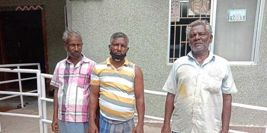 The Indian Fishermen who were attacked allegedly by Lankan fishermen