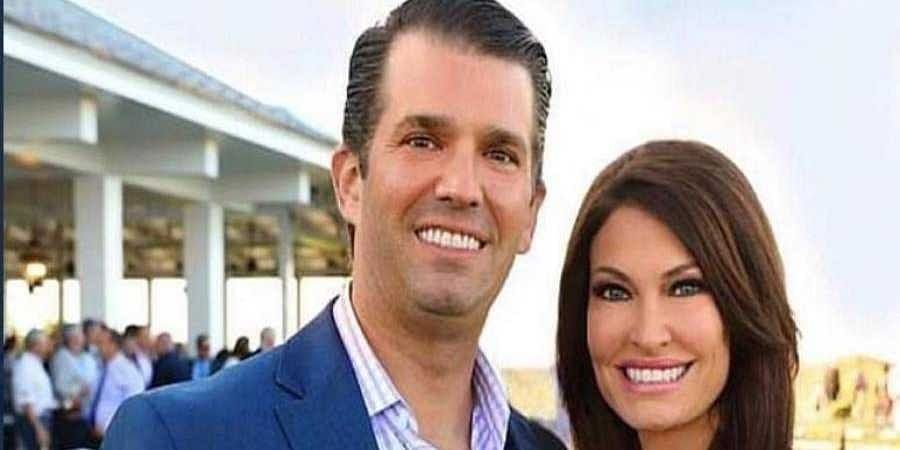 Kimberly Guilfoyle and President Donald Trump's oldest son.