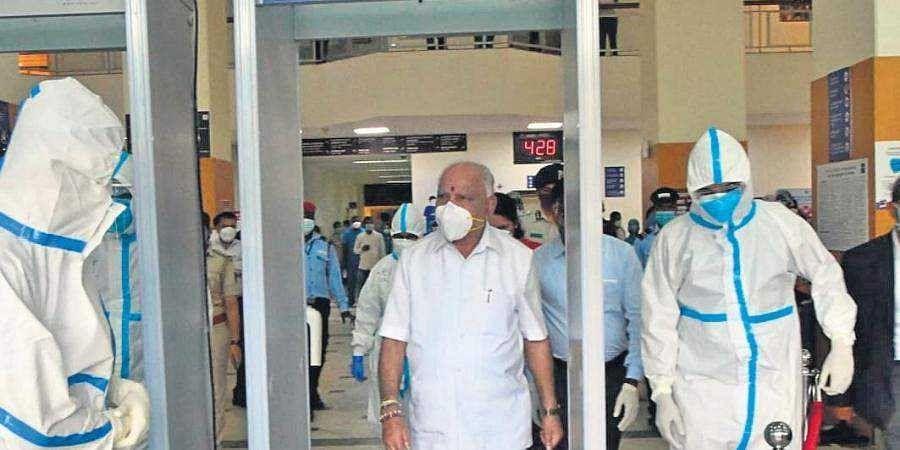 CM BS Yediyurappa walks out of Manipal Hospital on Monday
