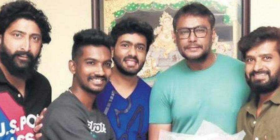 Actor Darshan and team