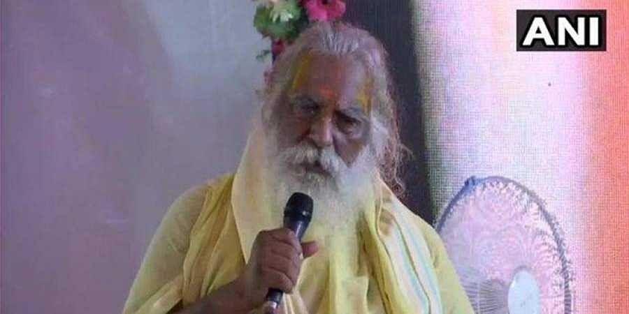 The head of the Ram Janmabhoomi trust in Ayodhya Mahant Nritya Gopal Das.