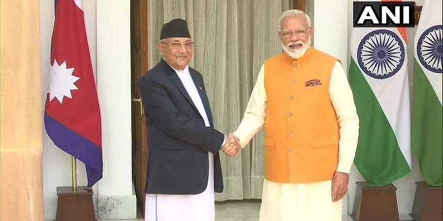 PM Modi meets KP Sharma Oli