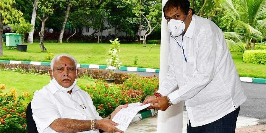 MLA Akhanda Srinivasa murthy Meets CM BS Yediyurappa