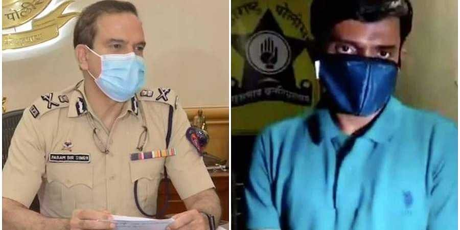 Mumbai police chief and quarantined police officer in Mumbai