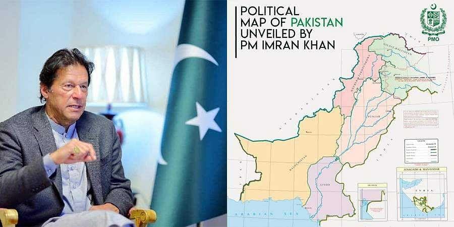 Imran Khan unveils new map
