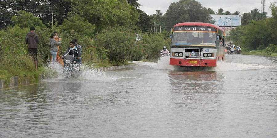 Mysuru-Nanjangud highway flooded