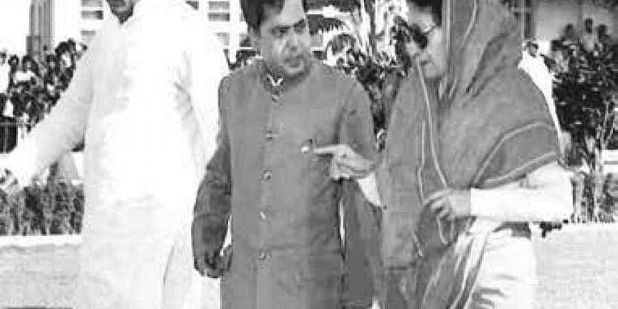 Pranab Mukharjee and indira gandhi