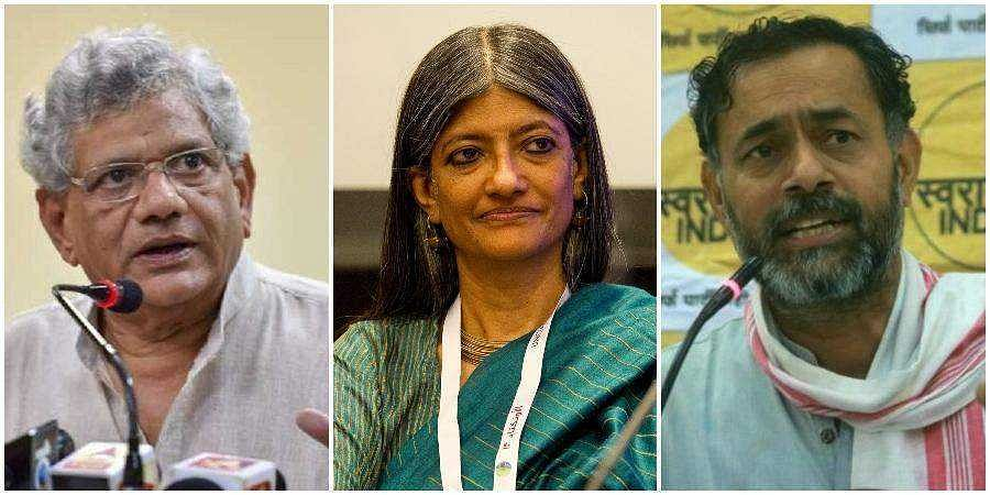 Delhi riots: Police name Sitaram Yechury, Yogendra Yadav, Jayati Ghosh, Apoorvanand as co-conspirators