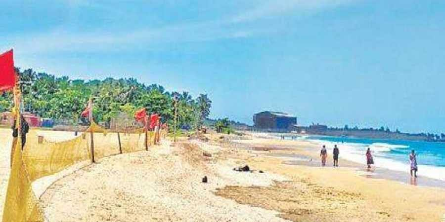 Nets have been placed along Malpe beach, but many tourists do not pay heed