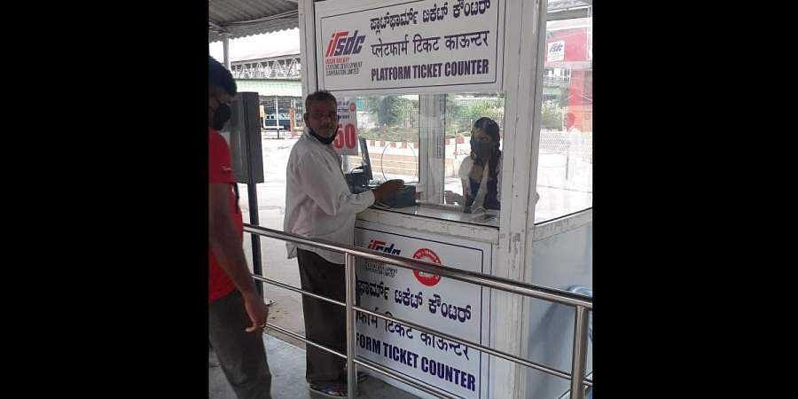 Railway platform tickets to come with QR code at KSR station