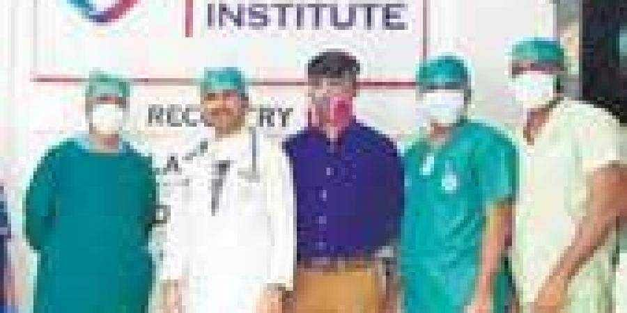 The doctors who performed the surgery on the Covid patient, in Chikkamagaluru