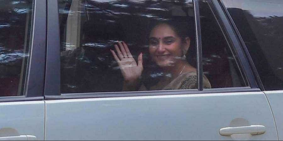Kannada actress Ragini Dwivedi detained by Central Crime Branch after they raid her house in connection with a drug case in Bengaluru Friday Sept. 4 2020.