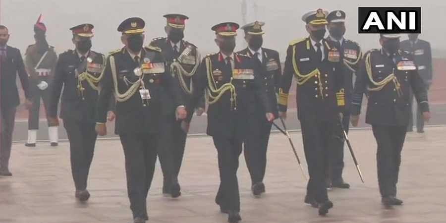 CDS General Bipin Rawat pay tributes at National War Memorial