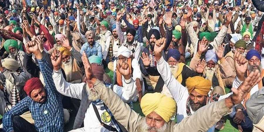 Farmers protest