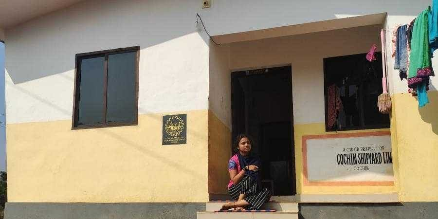 Sreenisha Csaid her family was given the house by Pullur-Periya panchayat and Sri Sathya Sai Trust in July 2020. The trust built 45 houses for endosulfan survivors at Eriya. (Photo | EPS)