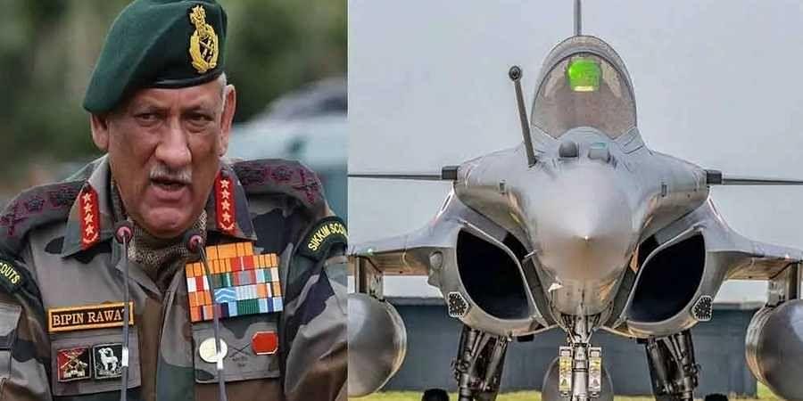 Bipin Rawat-Rafale fighter