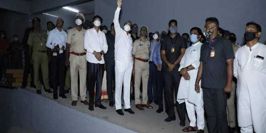Deputy chief minister Ajit Pawar at fire spot at Serum Institute of India, Pune.