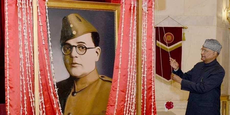 President of India, Ram Nath Kovind, unveiled a portrait of Netaji Subhas Chandra Bose at Rashtrapati Bhavan today