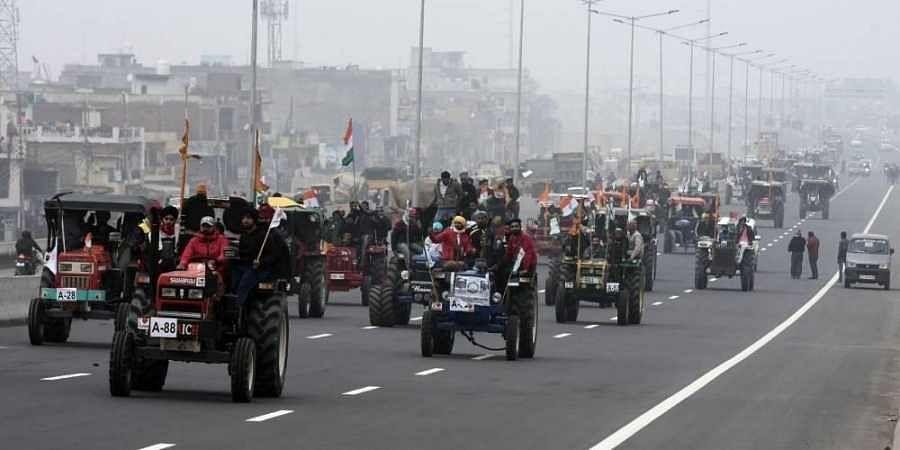 Farmers tractor-rally